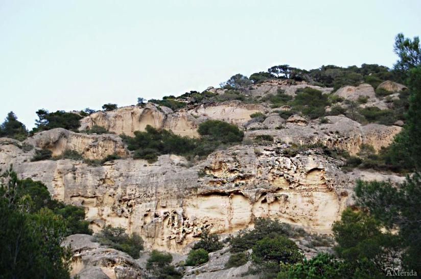 farallones rocosos de las presas del Guadalhorce